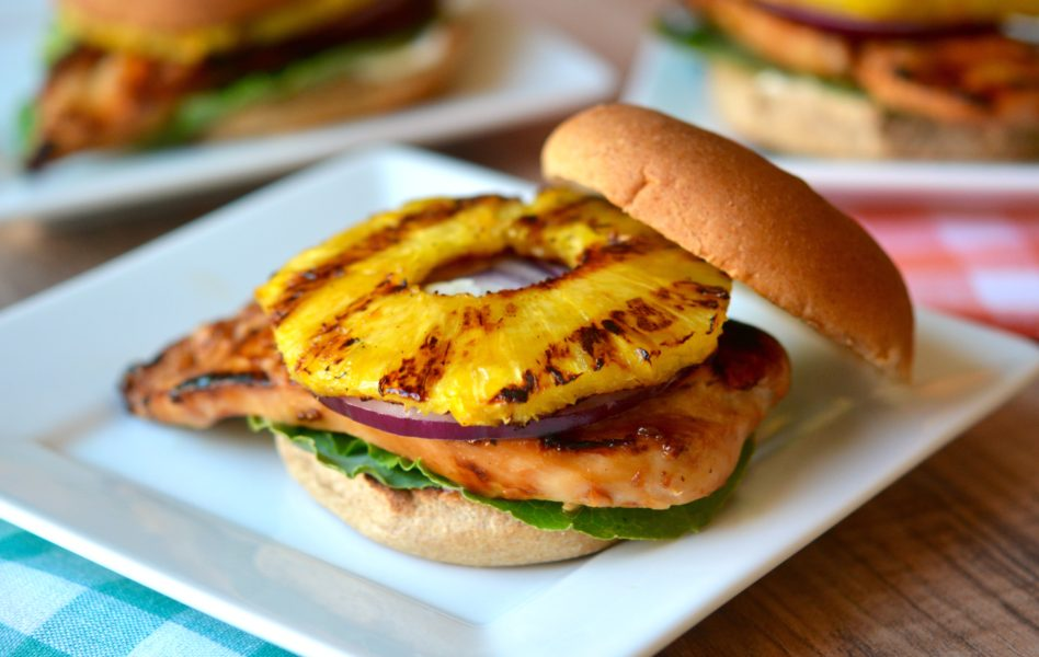 Grilled Teriyaki Chicken and Pineapple Sandwiches