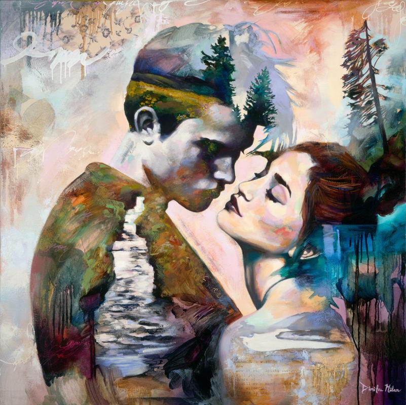 Dimitra milan dreams on canvas - Mejor pintura plastica ...