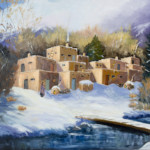 Barbara Donahue Taos Winter oil painting