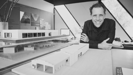 Jack DeBartolo with architectural model