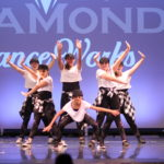 teen girls hip-hop dance team performance
