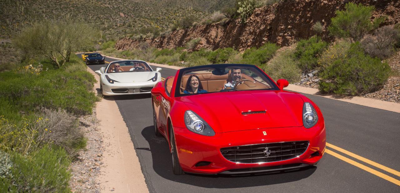 Ferraris on a road
