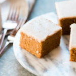 Easy Paleo Pumpkin Cake with Maple Frosting