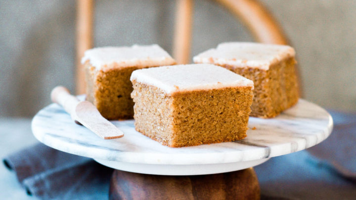 Paleo Pumpkin Cake with Maple Frosting