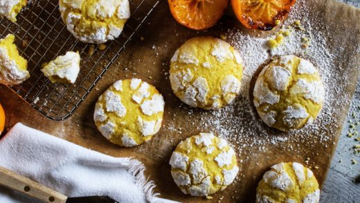 Roasted Meyer Lemon Crinkle Cookies Recipe