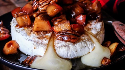 Apple Pecan Spiced Brie